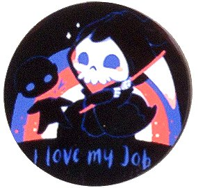 Fridge Magnet #53 - Grim Reaper I Love My Job
