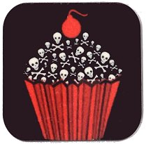 Fridge Magnet #57 - Cupcake of Death