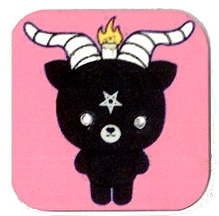 Fridge Magnet #60 - Baphomet with Rhinestone Eyes