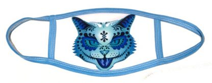 Sugar Skull Cat Tattoo Mask
