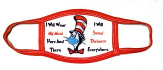 Doctor Seuss Cat In The Hat Face Mask