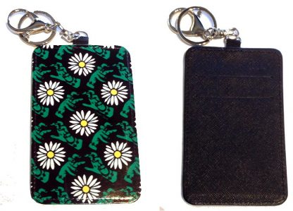 Card Holder Key Chain - Style #1 Pushing Up Daisies