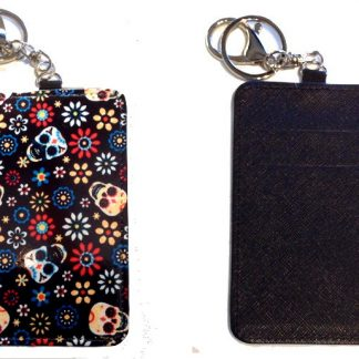 Card Holder Key Chain #2 Sugar Skulls