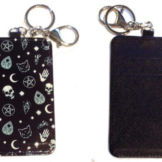 Card Holder Key Chain - Style #3 Witchy Ways