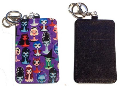 Card Holder Key Chain - Style #4 The Lovely Ladies