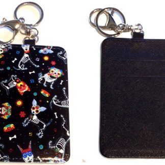 Card Holder Key Chain - Style #5 Sugar Skull Pups