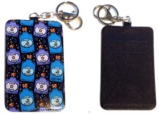 Card Holder Key Chain - Style #6 Stardust & Moonbeams