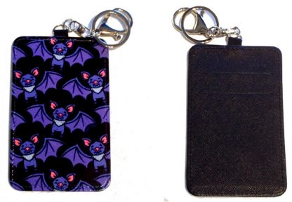 Card Holder Key Chain - Style #7 A Little Batty