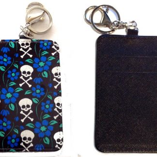 Card Holder Key Chain #11 Posies & Crossbones