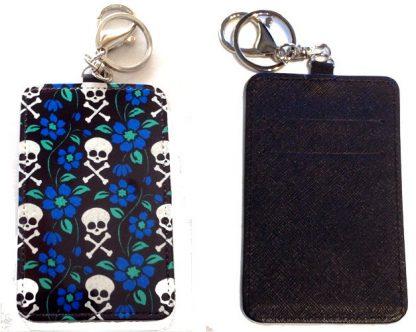 Card Holder Key Chain #11 Posies & Crossbones