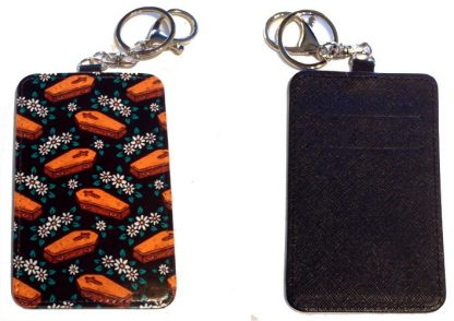 Card Holder Key Chain #25 Daisies & Coffins