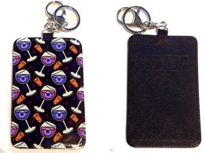 Card Holder Key Chain #29 Happy Hour
