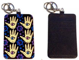 Card Holder Key Chain #32 Hamsa Hand