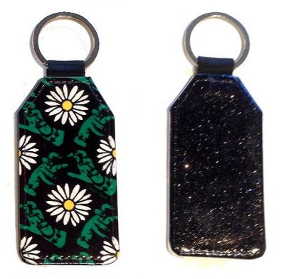 Sparkles & Patterns Key Chain - Style #3 Pushing Up Daisies
