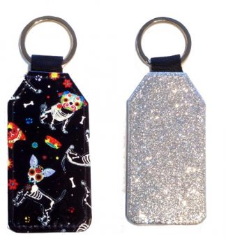 Sparkles & Patterns Key Chain - Style #5 Sugar Skull Pups