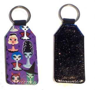 Sparkles & Patterns Key Chain - Style #7 The Lovely Ladies