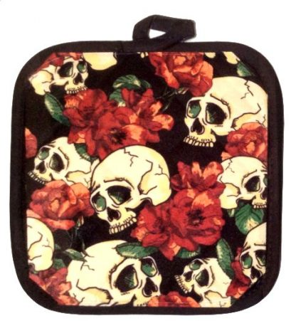 Skulls & Blossoms Pot Holder