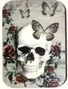 Fridge Magnet #63 - Skull & Butterflies