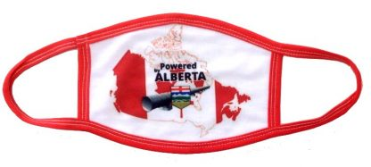 Powered By Alberta Oil Pipelines Face Mask