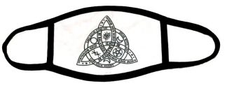 Wiccan Triquetra Face Mask
