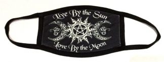 Wiccan Live By The Sun Love By The Moon Face Mask