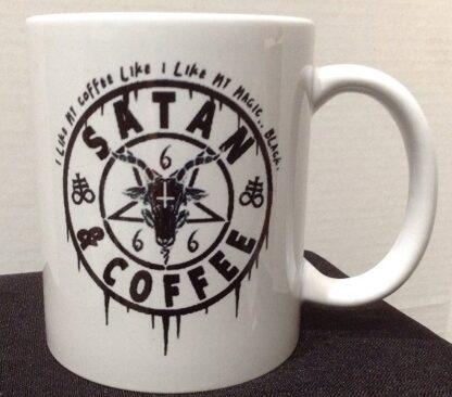 Satan & Coffee Porcelain Coffee Mug