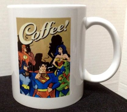 Coffee: My Superpower Comes From Caffeine Porcelain Coffee Mug