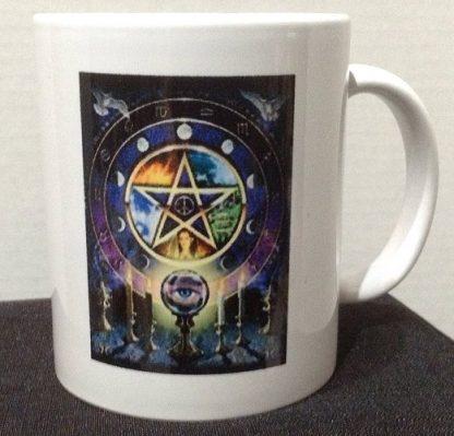Pentagram & Candles Porcelain Coffee Mug