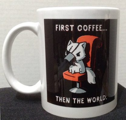 First Coffee Then The World Porcelain Coffee Mug