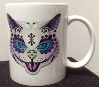 Sugar Skull Cat Tattoo Coffee Mug