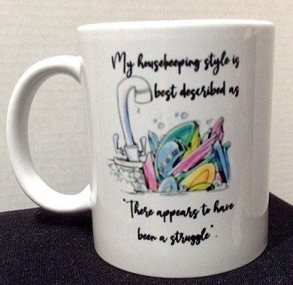 My Housekeeping Style Porcelain Coffee Mug