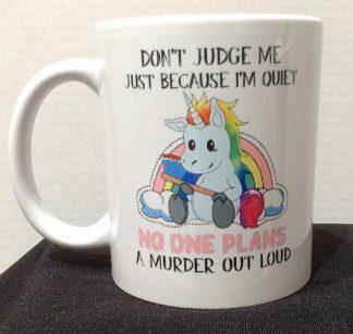 Don't Judge Me Porcelain Coffee Mug