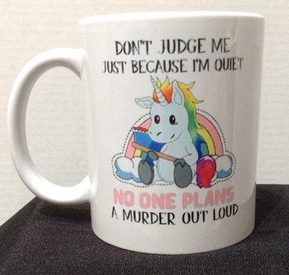 Don't Judge Me Porcelain Coffee Mug