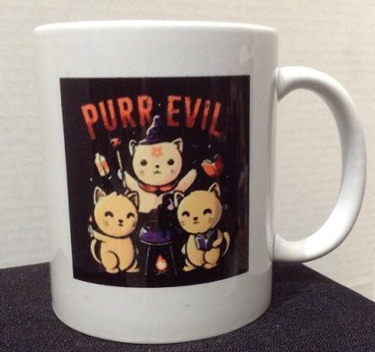 Purr Evil Porcelain Coffee Mug