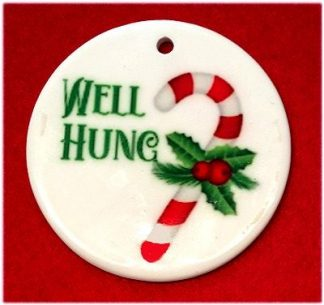 Naughty List Christmas Ornament #1