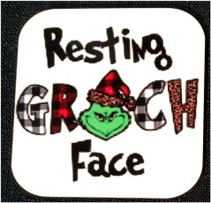 Fridge Magnet #71 - Christmas Resting Grinch Face