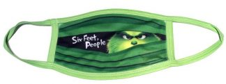 Doctor Seuss The Grinch Six Feet People Face Mask - Green Trim