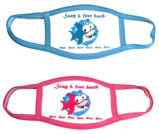 Baby Shark Doo Doo Face Mask - Pink or Blue