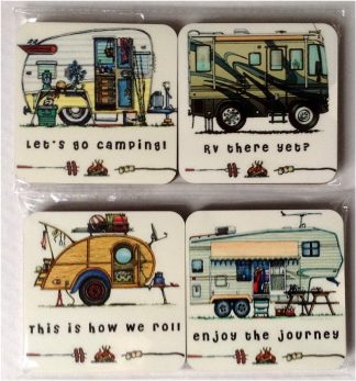 Happy Campers Series 1 - Set of 4 Coasters