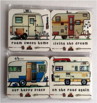 Happy Campers Series 2 - Set of 4 Coasters