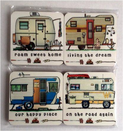 Happy Campers Series 2 - Set of 4 Coasters