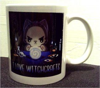 I Love Witchcrafts Porcelain Mug