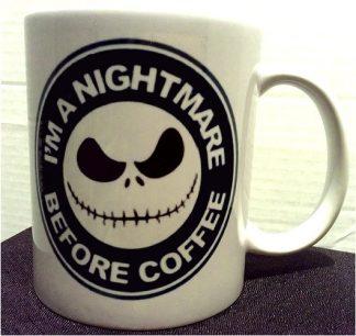 Nightmare Before Christmas I'm A Nightmare Before Coffee Porcelain Mug