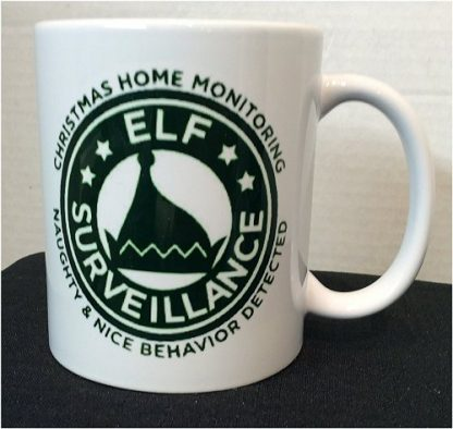 Christmas Elf Surveillance Coffee Porcelain Mug