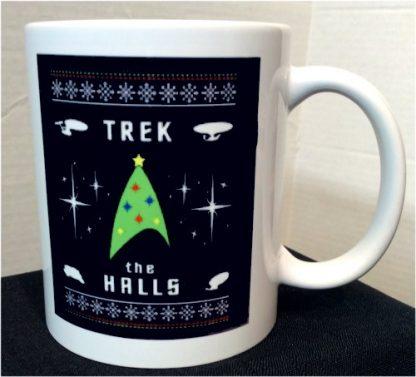 Trek the Halls Star Trek Christmas Porcelain Mug