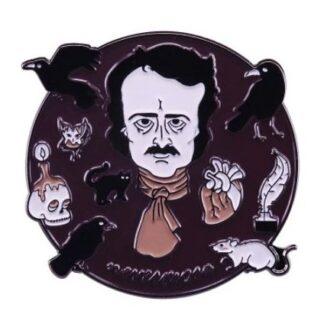 Edgar Allen Poe Enamel Pin