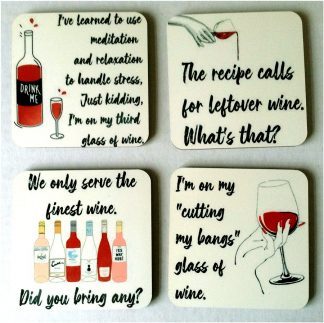 Bring on the Wine - Set of 4 Coasters