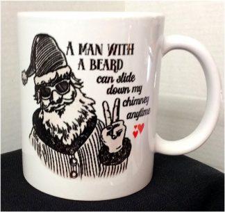A Man With A Beard Christmas Porcelain Mug