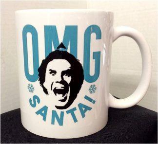 Christmas Elf OMG Santa! Coffee Porcelain Mug