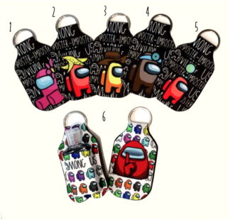 Hand Sanitizer Keychains - Among Us